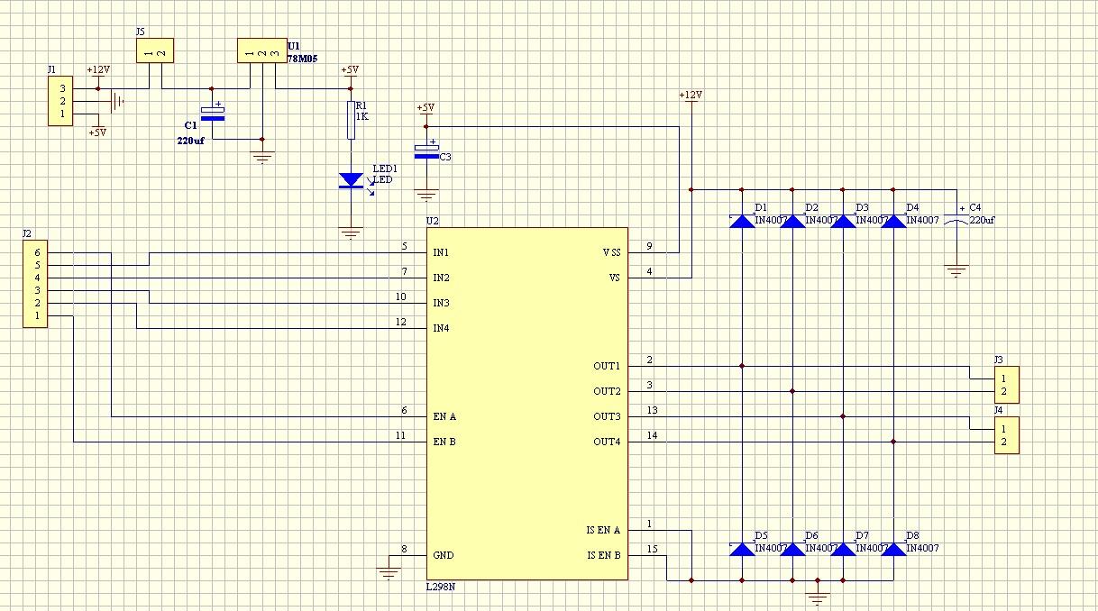 Modulo L298N esquema