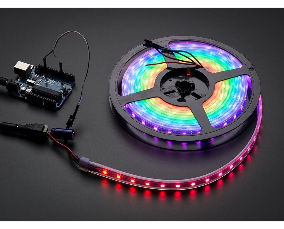 Neopixel led strip cinta 60 led rgb direccionable 1m electronilab neopixel led strip aloadofball Image collections