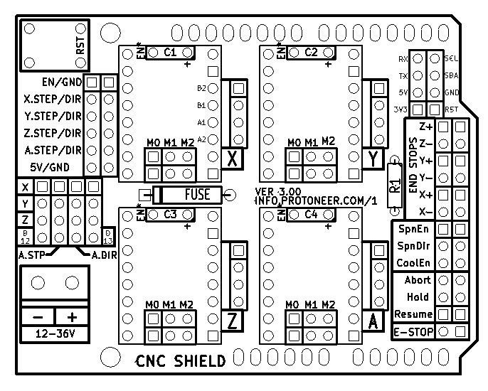 cnc grbl shield v3 driver a4988