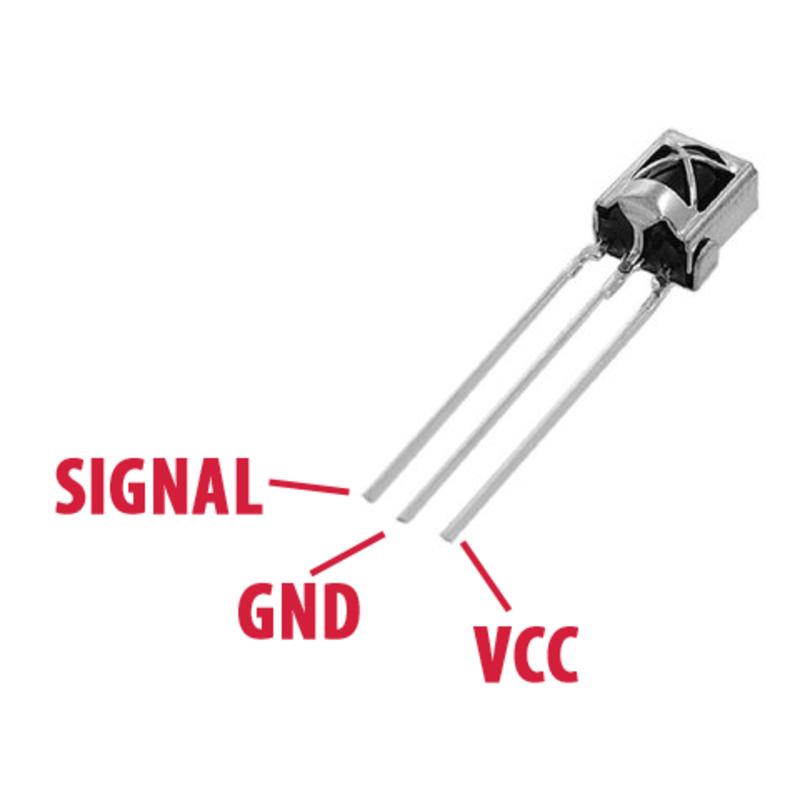 sensor receptor infrarrojo ir - vs1838b