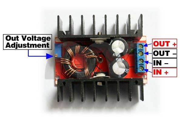 Convertidor DC-DC Boost 150W 10-32V A 12-35V 6A