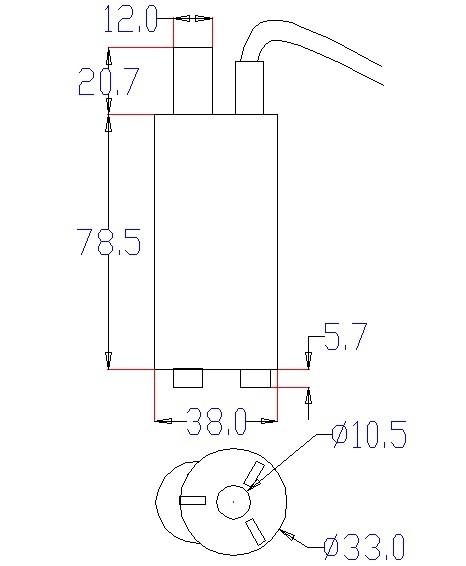 Bomba de Agua Sumergible - 6-15VDC (7)