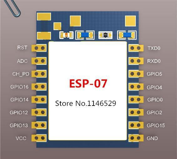 ESP8266 - ESP-07 - Módulo Transceptor WiFi Serial (6)