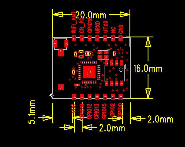 ESP8266 - ESP-07 - Módulo Transceptor WiFi Serial (7)