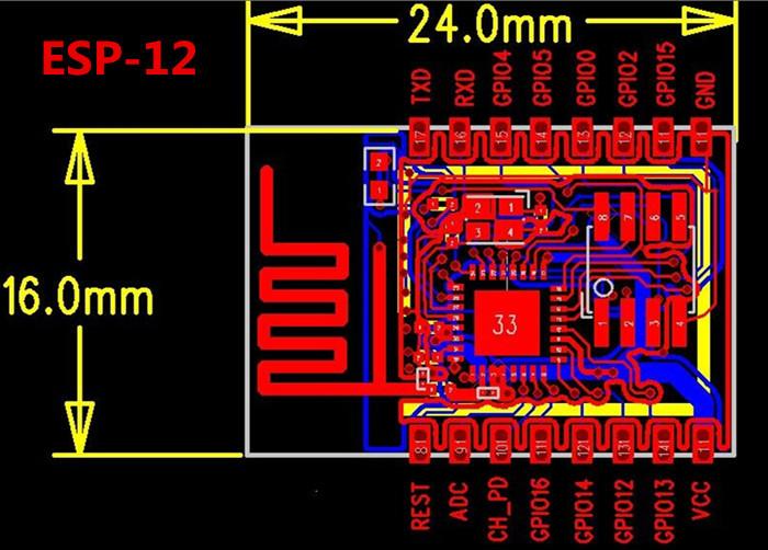 ESP8266 - ESP-12 - Módulo Transceptor WiFi Serial (6)