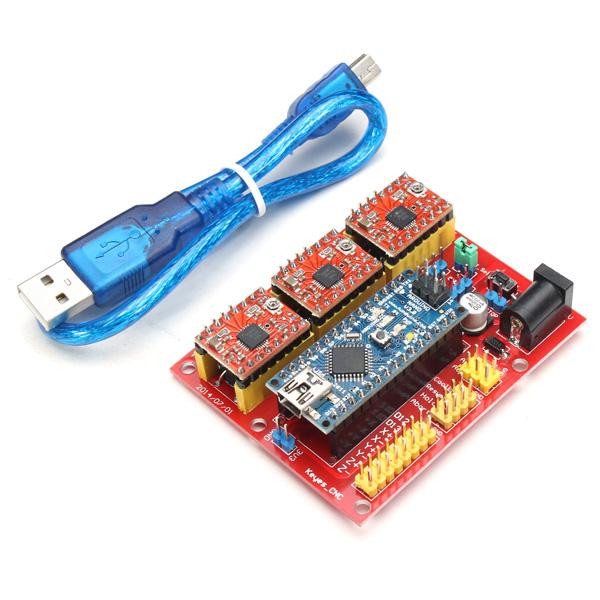 Cnc grbl shield v con arduino nano y driver a