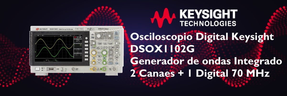 Osciloscopio Digital Keysight DSOX1102G Slide